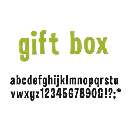 Thickers: CHIPBOARD - Gift Box BLACK