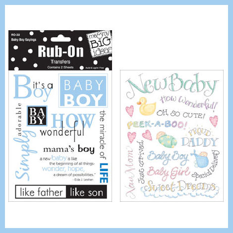 Baby Boy Rub On Sayings [MM-Rub-BBS] - 3.25 : A Trip Down Memory Lane