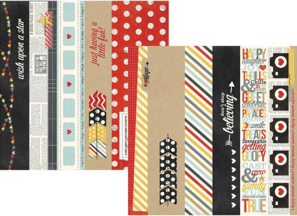 Say Cheese - 2 x 12 & 4 x 12 Border & Title Strip Elements